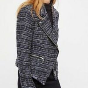 Free People Nicole NWOT Size S Tweed Moto Jacket